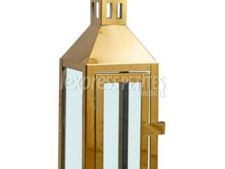 Set of 3 candle holder Gold