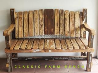 Classic Wooden Farm Bench