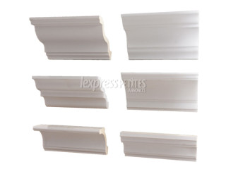 Cornices without moulding